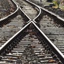 Spoorwissel, rails, spoor