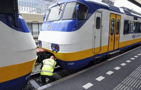 Treinaanrijding Leiden