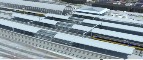 vierde perron station Zwolle