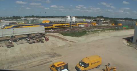 bouwlocatie fly-over Sporen in Den Bosch