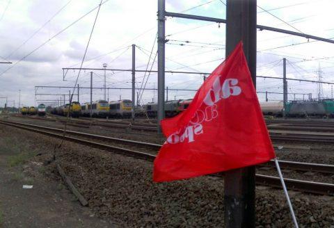 staking, spoor, België, NMBS