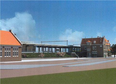 perron, station, Deventer, ontwerp