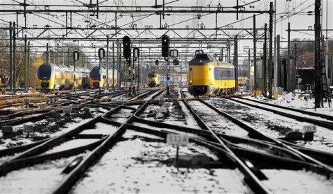 winter op het spoor