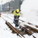 Sneeuwvrij, maken, wissel, Amsterdam, sneeuw, winter
