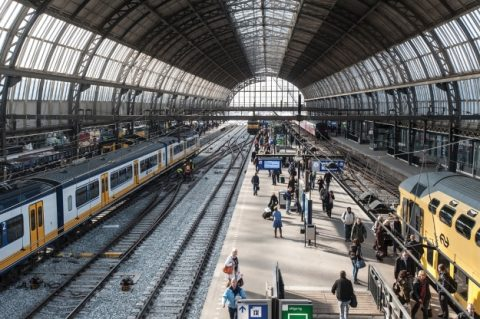 station, Amsterdam centraal, perron