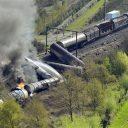 goederentrein, ramp, Wetteren, België