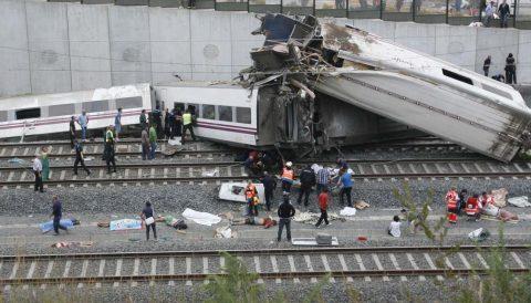 treinongeluk, Santiago de Compostela, Spanje