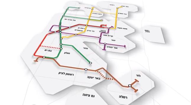 Tel Aviv, metronetwerk