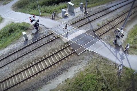 Filmpje, Donorweek, spoorwegovergang