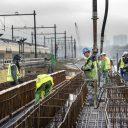 Spoorbrug over de Amstel, werkzaamheden