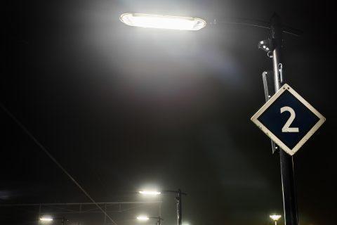 Verlichting, treinstation