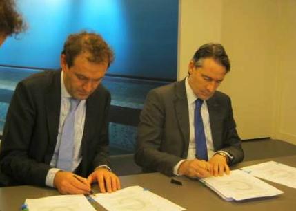 Ondertekening contract Siemens en Dienst Metro Amsterdam, foto: Dienst Metro Amsterdam