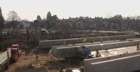 Werkzaamheden, onderdoorgang, spoor, Maastricht