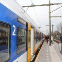 Sprinter, trein, NS, station Tilburg Universiteit, perron