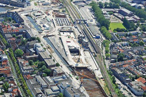 Spoorzone Delft, foto: Eagle Eyes Rotterdam