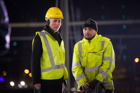 Staatssecretaris Wilma Mansveld van Infrastructuur en Milieu, werkzaamheden, spoor