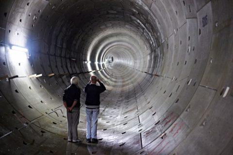 Tunnel, Noord/Zuidlijn, Dag van de Bouw, foto: Wiep van Apeldoorn