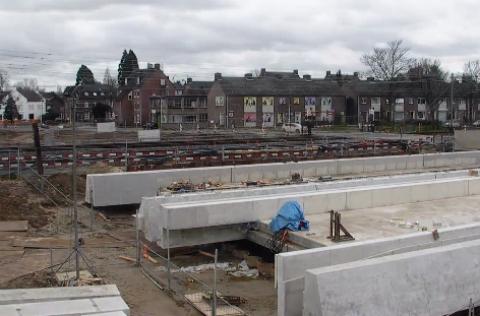 Aanleg, onderdoorgang, spoor, Maastricht