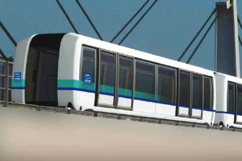 Metrolijn B, Rennes, bron: brochure Siemens Airval and Cityval