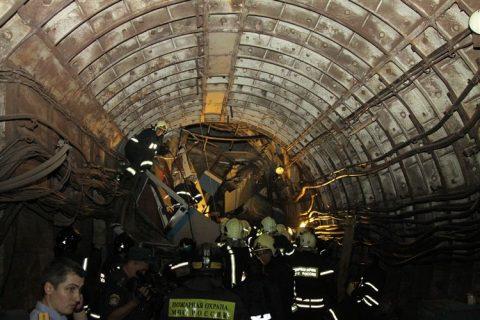 Metro, ongeluk, Moskou