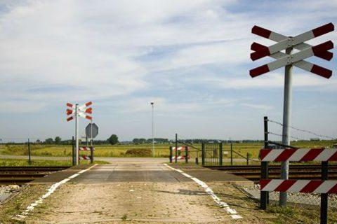 Onbewaakte spoorwegovergang