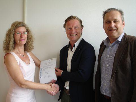 Titia Los van Plurel, directeur Lex van der Poel van Dual Inventive, directeur Pieter Ahsman van Asset Rail