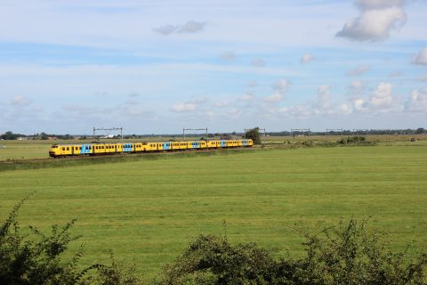 NS, trein, bij Castricum
