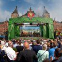 Viering 175 jaar spoor, Stationsplein Amsterdam