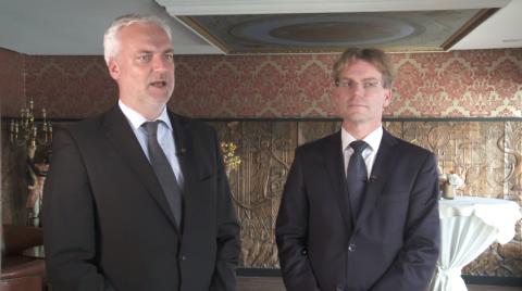 Garrelt Duin, minister van Economische Zaken van Noordrijn-Westfalen (NRW), Bas Hennissen, Havenbedrijf Rotterdam