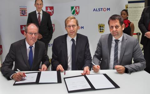 Alstom, ondertekening intentieverklaring, waterstoftreinen
