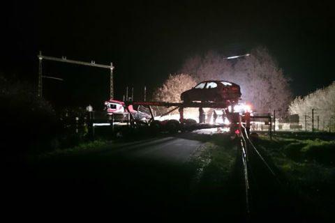 Botsing, vrachtwagen, trein, Diepenveen, bij Deventer
