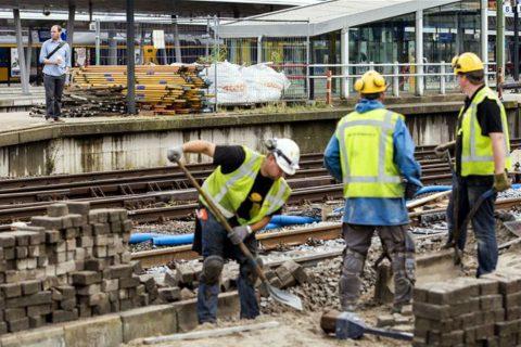 Baanwerkers, Utrecht Centraal, werkzaamheden