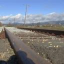 Ballastbed, weggespoeld spoor