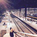 Sneeuw, winter, treinen, station, Breda Centraal