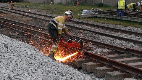Werkzaamheden, spoor, bedrijfsspooraansluiting, SABIC, chemisch bedrijf