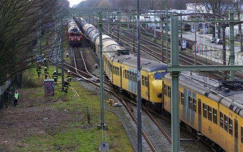 Ongeluk, treinen, Tilburg