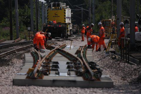 Werkzaamheden, spoor, rails, Network Rail