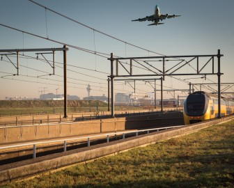 Schiphol, tunnel, Intercity, trein, NS