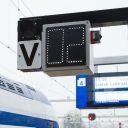 Afteller, station, perron, NS-trein, conducteur