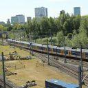 Stoptrein, NS, spoor, rail, bovenleiding, Utrecht