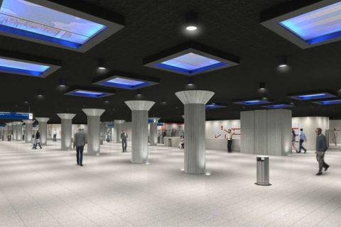 Ontwerp metrostation Weesperplein Amsterdam