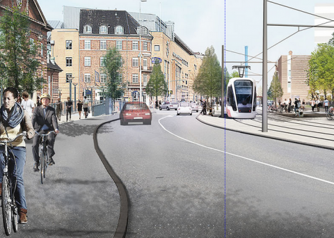 Tramverbinding, Odense, Denemarken