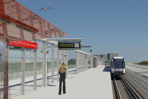 Station Hoek van Holland Strand, ontwerp, Hoekse Lijn