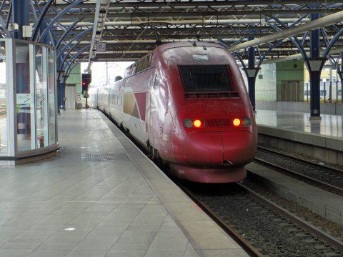 Thalys, hogesnelheidstrein, station Brussel Zuid