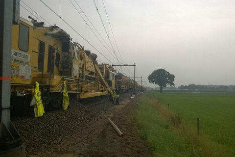 Kettinghor Swietelsky, werkzaamheden, spoor, Zwolle-Emmen