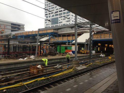 Werkzaamheden op Station Utrecht Centraal