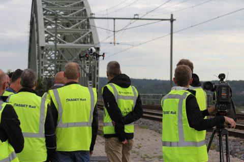 Inspectie spoor met drone door ASSET Rail