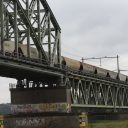 Goederentrein, Rijnbrug, spoorbrug