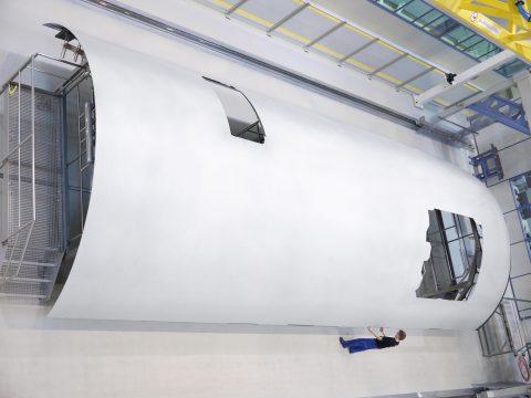 Een composieten paneel van een Airbus vliegtuig, foto: Airbus.com