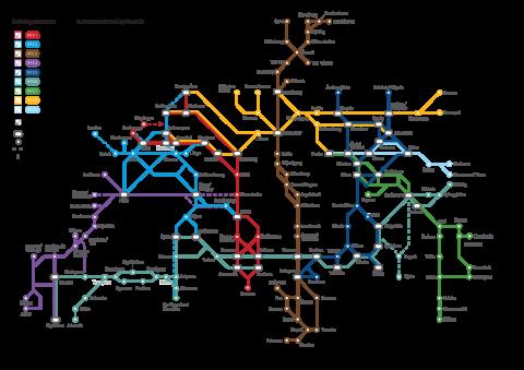 Spoorgoederencorridors 2015, bron: ProRail